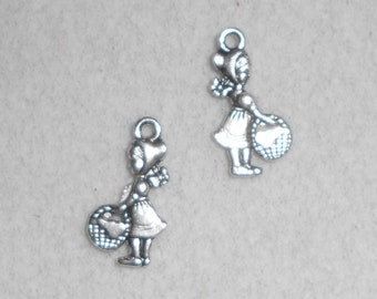 Silver Child with Basket Charms