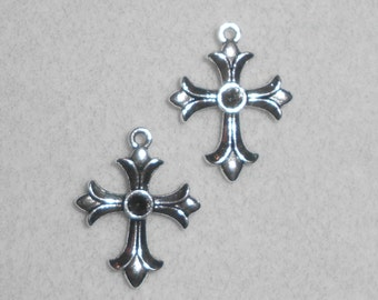 Silver Cross Charms