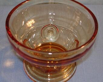 Moondrops Amber Depression Glass Sherbet