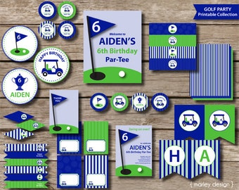 Golf Party Birthday Collection Printables / Golf Birthday Decorations