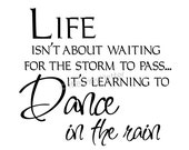 Life Storm Dance in the Rain Vinyl Wall or Tile Home Decal Sticker - TheVinylLetter