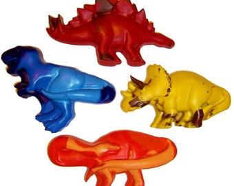Recycled JUMBO Dinosaur Crayons - Set of 4