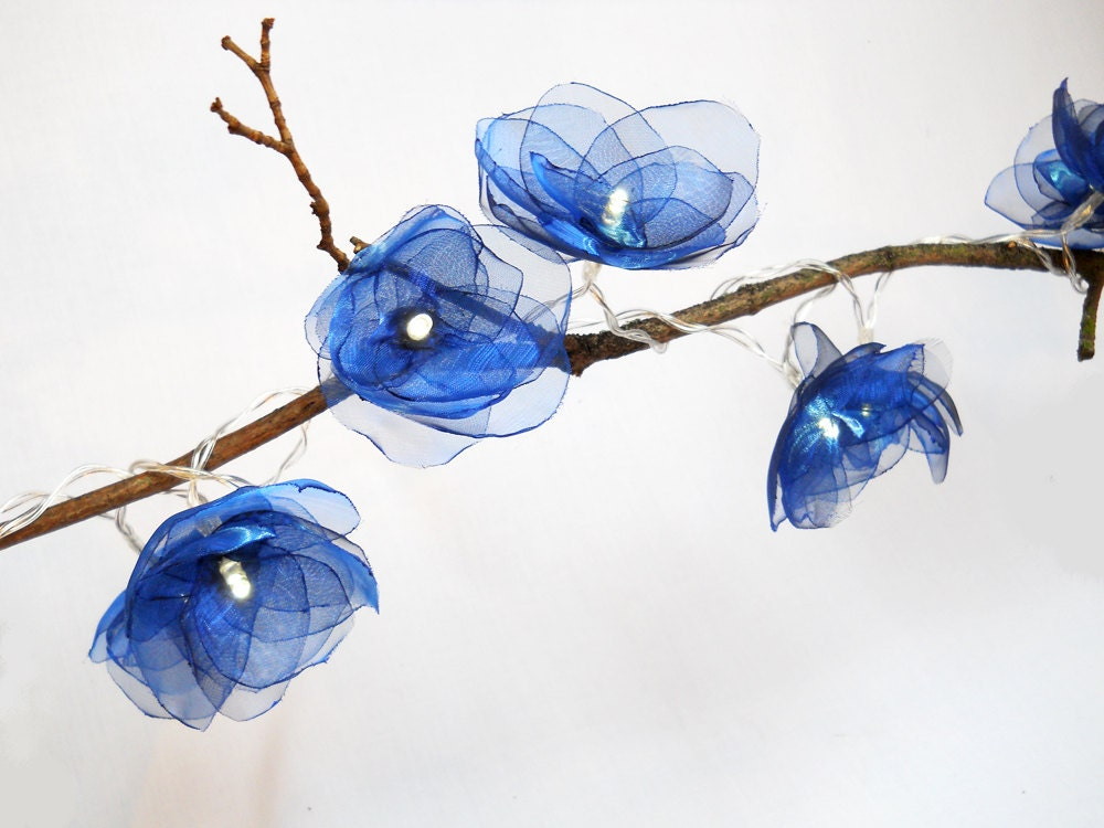 flower fairy lights royal blue. Black Bedroom Furniture Sets. Home Design Ideas