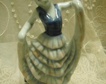 Vintage porcelain figurine, made in occupied Japan, dancer