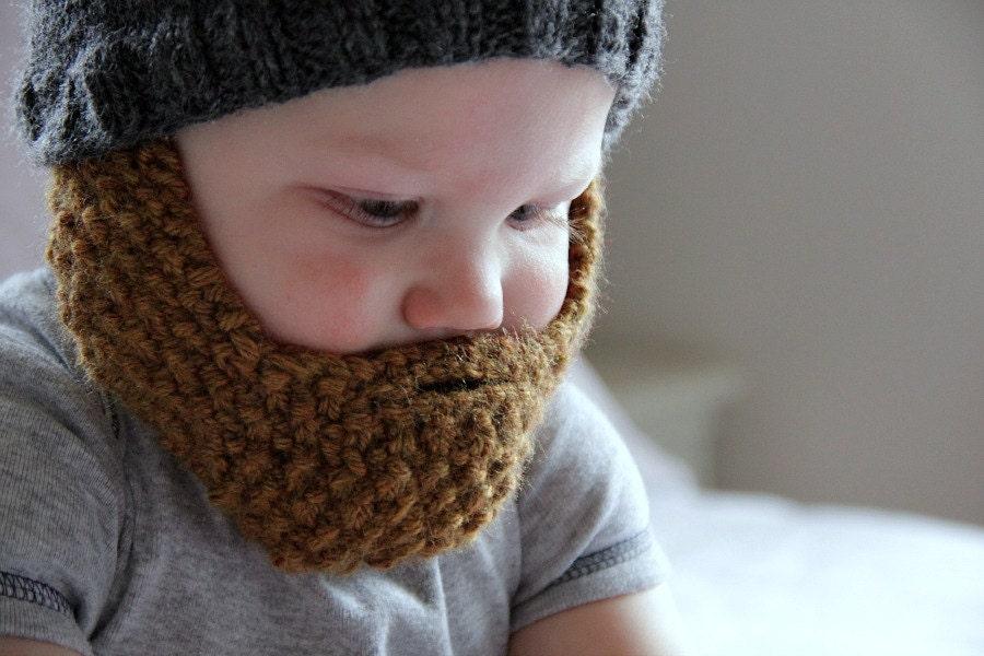 Alison Bearded Baby Beanie Detachable Beard Babies