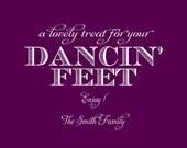 Printable Dancin' Feet Wedding Sign 4x6 or 5x7