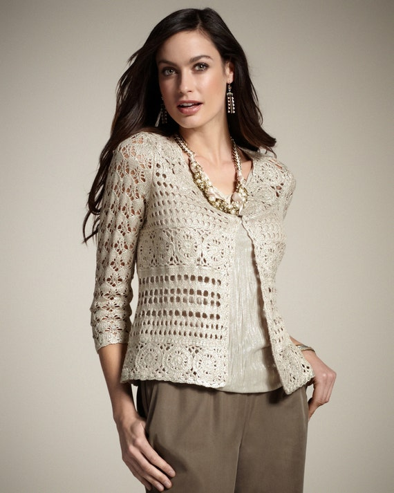 CROCHET FASHION TRENDS exclusive crochet jacket - made to order