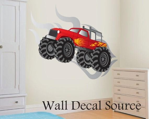 Items Similar To Monster Truck Wall Decal Vinyl Monster