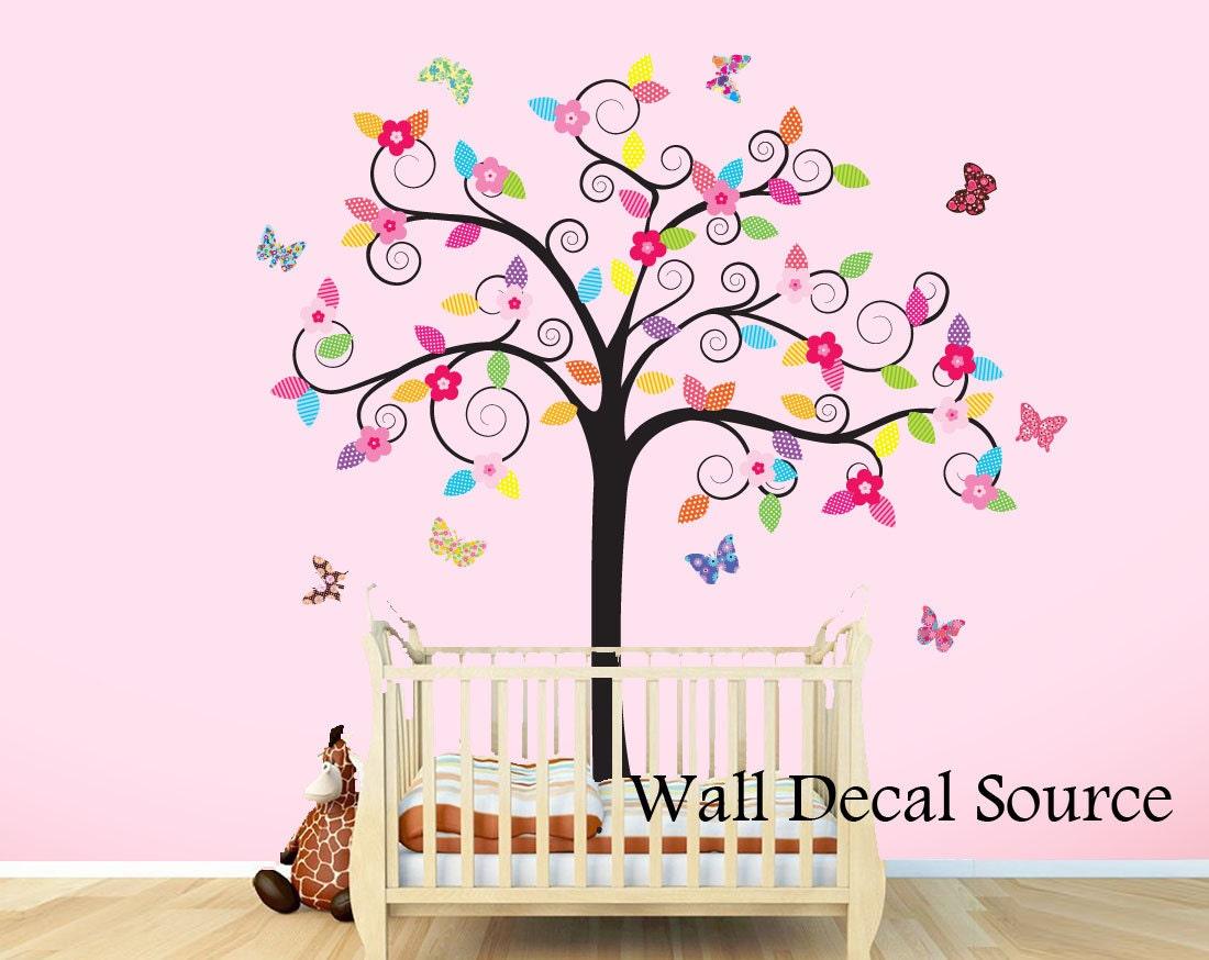 Vinyl Wall Decal Sticker Kids Tree Nursery Butterfly Wall
