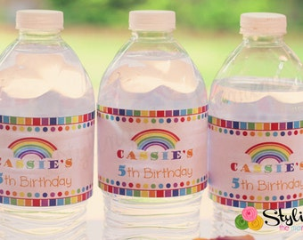 Rainbow Party Water labels