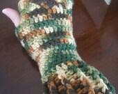 Ribbed Cuff Fingerless Gloves Pattern- crochet pdf pattern