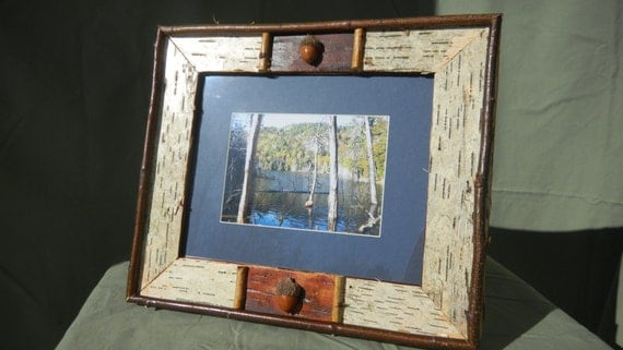 Items similar to white birch picture frame