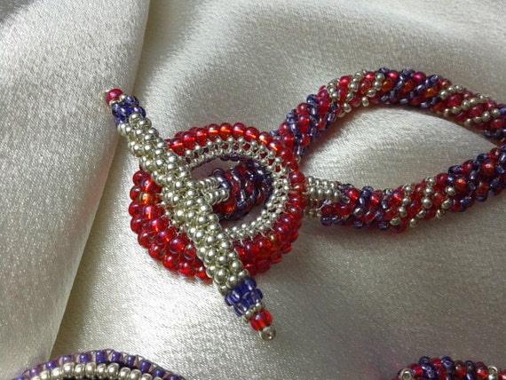 Tutorial bead embroidery necklace from bijouxdelights on