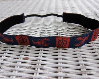 Blue Lobster Headband - Girls Nautical Headband