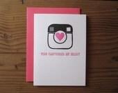 You Captured My Heart Letterpress Card