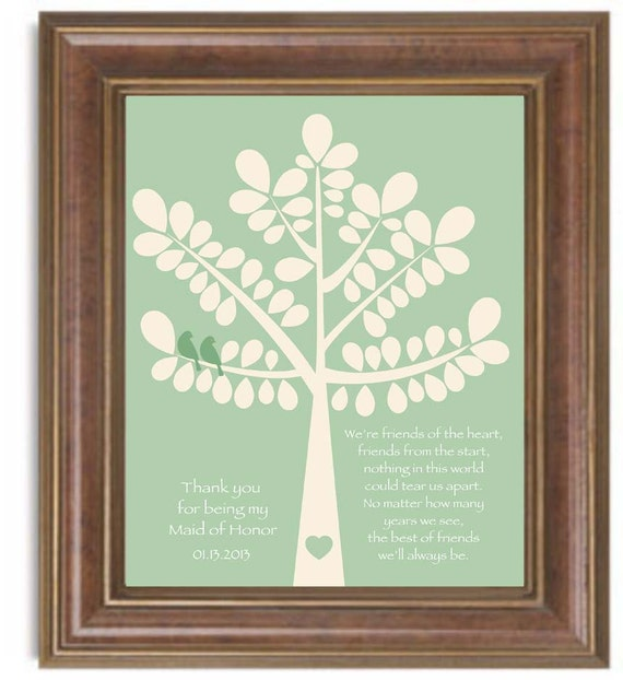 Items Similar To Maid Of Honor Gift Or Bridesmaid Gift