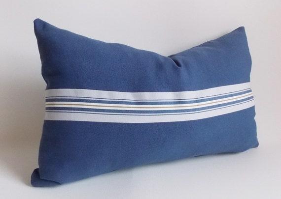 Navy Blue Decorative Bed Pillows: Navy Blue PillowDecorative PillowLumbar PillowPillow Cover