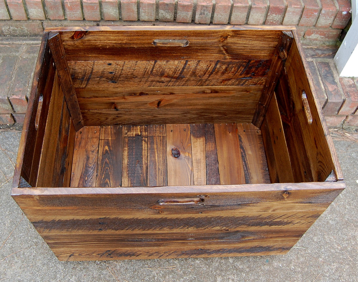 Tall Extra Large Wooden Crate Toy Chest Large Storage