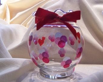 Polka Dots and Hearts Ivy Bowl