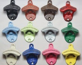 Bottle Opener Pick Your Color Fathers Day Gift for Dad Rustic Cast Iron Wall Mount Party Favor