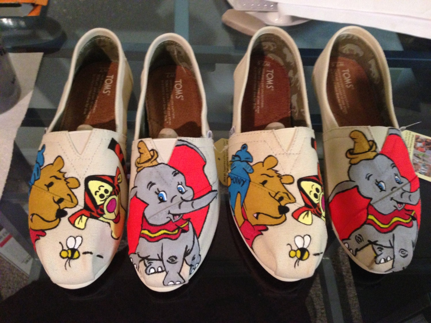 painted disney toms winnie the pooh and dumbo