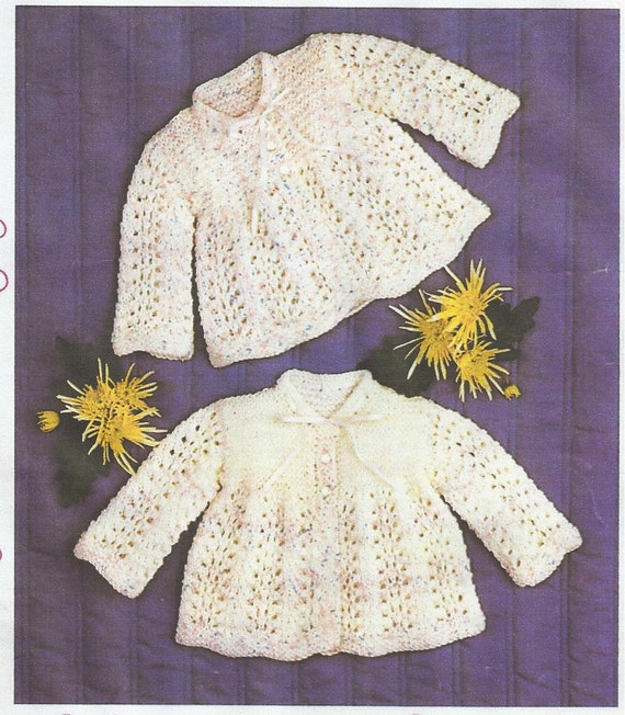 Knitting Patterns For Babies Matinee Coats : baby knitting pattern for vintage matinee jacket dk wool
