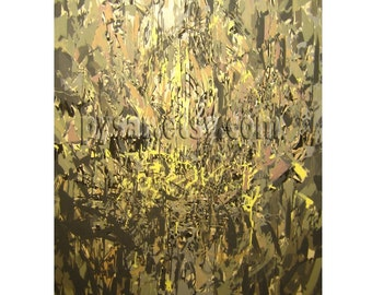 Large Abstract Painting, Acrylic original art, Contemporary abstract art canvas painting, Brown and Yellow canvas art, Acrylic painting