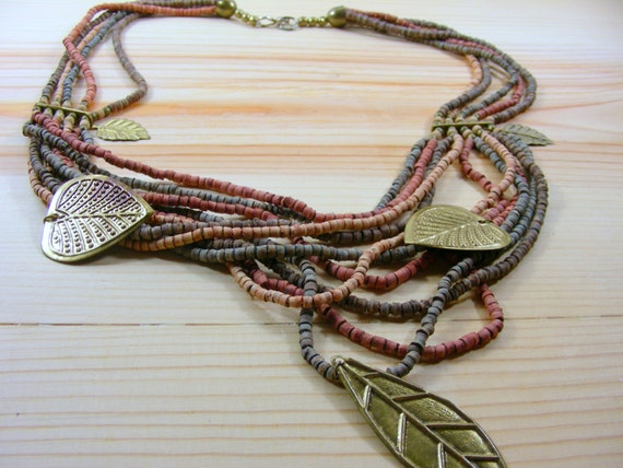 Summer Beach Necklace / Puka Beads Necklace / Boho Necklace