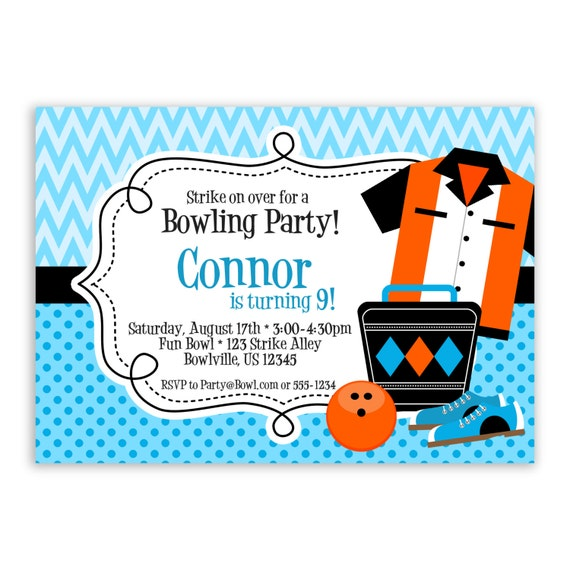 Bowling Themed Invitations for amazing invitations ideas