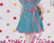 Licca Kenner Blythe doll BL body cute flare girly dress with socks set pdf E PATTERN in Japanese and Pieces Titles in English