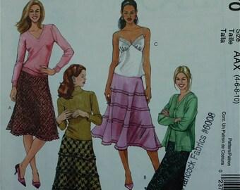 Skirt Set McCall's Pattern 4970  Uncut Sizes 4-6-8-10, 12-14-16-18