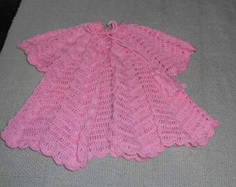 Baby Sweather Crocheted Ripple Design