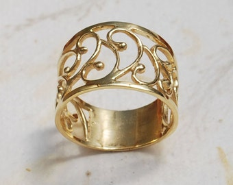 18K gold plated ring, delicate, any size