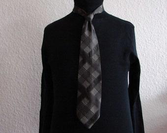 SALE % Grey checked tie