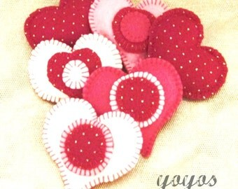 HEARTS, BOWL FILLERS, Tucks, Medium, Set of Four, Tucks, Valentine, Seasonal Home Décor, Hostess Gift, Gifts for Women, Red, Pink, White