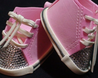 Sugar Gumpaste Baby Converse Shoes with Bling