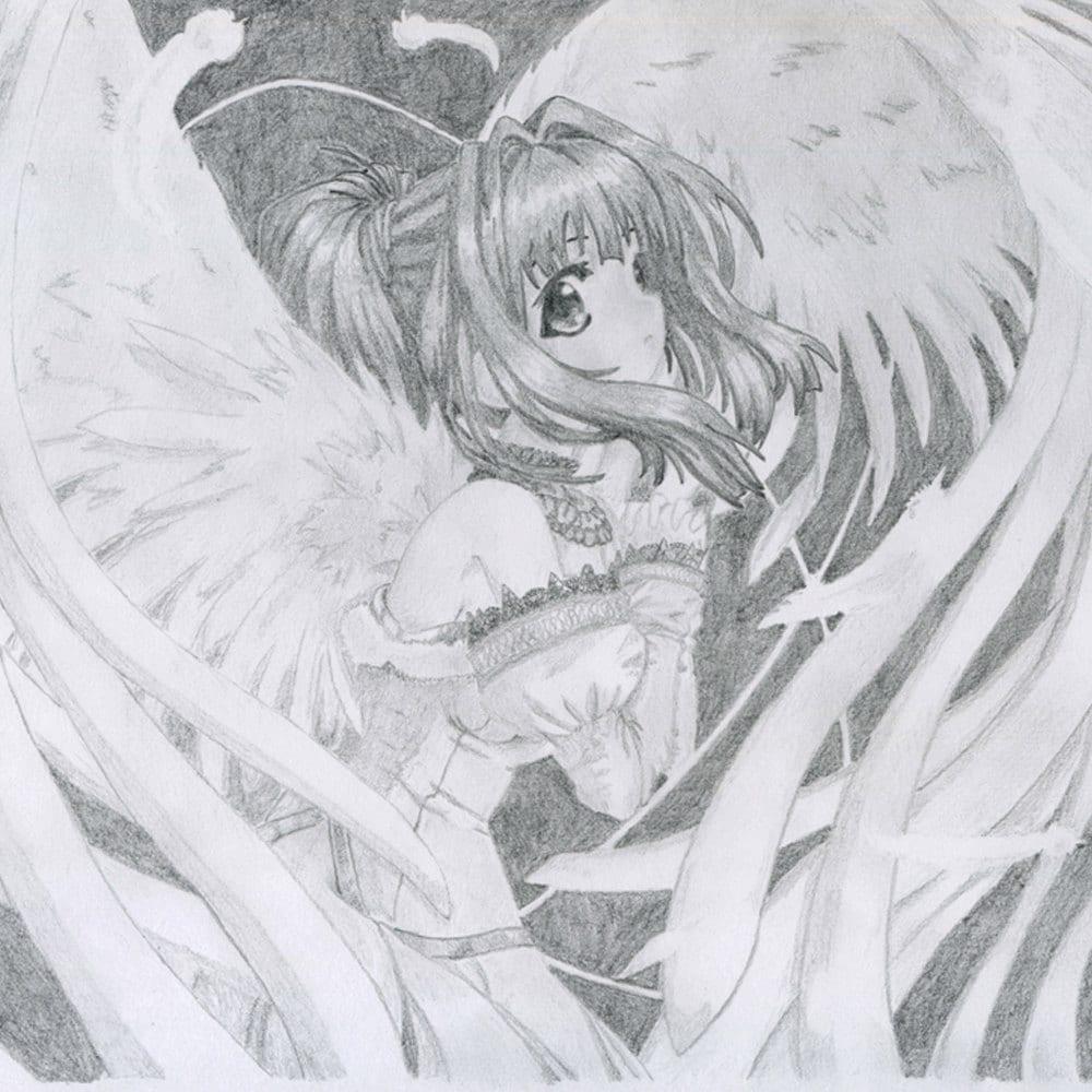 Anime. Manga Illustration Kawaii Pencil Drawing by ...