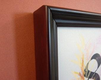burgundy and black 8 x 10 handmade deep cap wood  frame canvas art