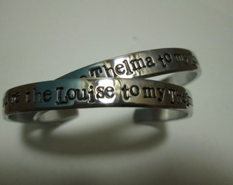 You are the Thelma to my Louise   You are the Louise to my Thelma bracelets Sold as a pair