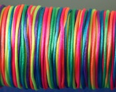 Rattail 2mm satin cord choose your color 10 yards