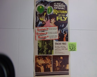 1959 20th Century Fox Return of the Fly Movie poster