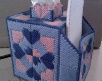 Hearts and Pad Holder Tissue box cover