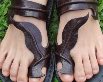 Handmade Leather Sandals Women and Men***Butterfly design***