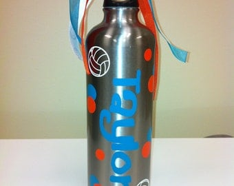 Personalized Water Bottle Volleyball