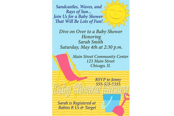 beach baby shower invitation printable beach baby shower invitation
