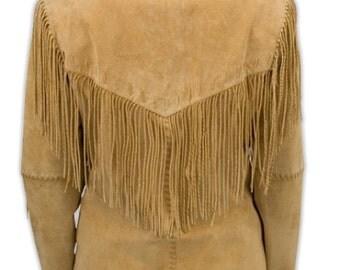 Hippy Leather Fringe Jacket Size Medium