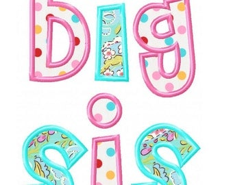 Big Sis Applique Design INSTANT DOWNLOAD