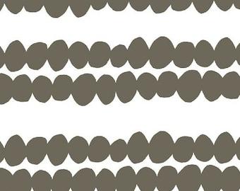 SALE! 1/4m Bella Pebble Stripe Dark Grey