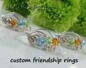 3 Friendship Rings Three Friends 3 Best Friend Rings Friendship Jewelry Personalized Best Friends Jewelry Gifts for Best Friends ITEM0350