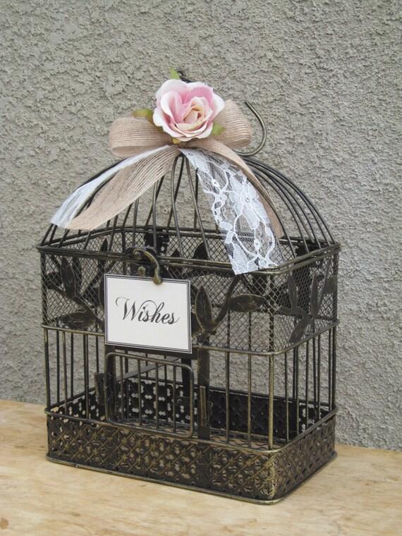 Birdcage Wedding Card Box / Wishing Well / Decorative Birdcage ...